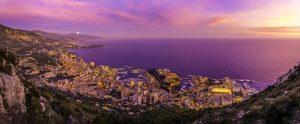 Beaux couchers de soleil à Monaco